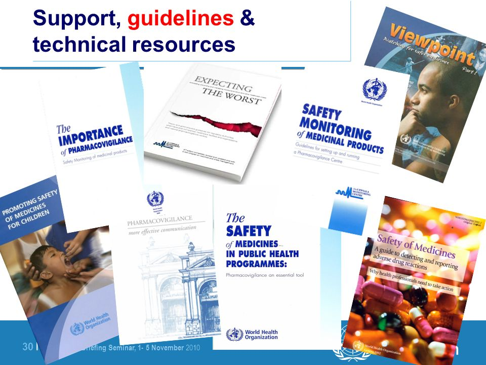 Support, guidelines & technical resources