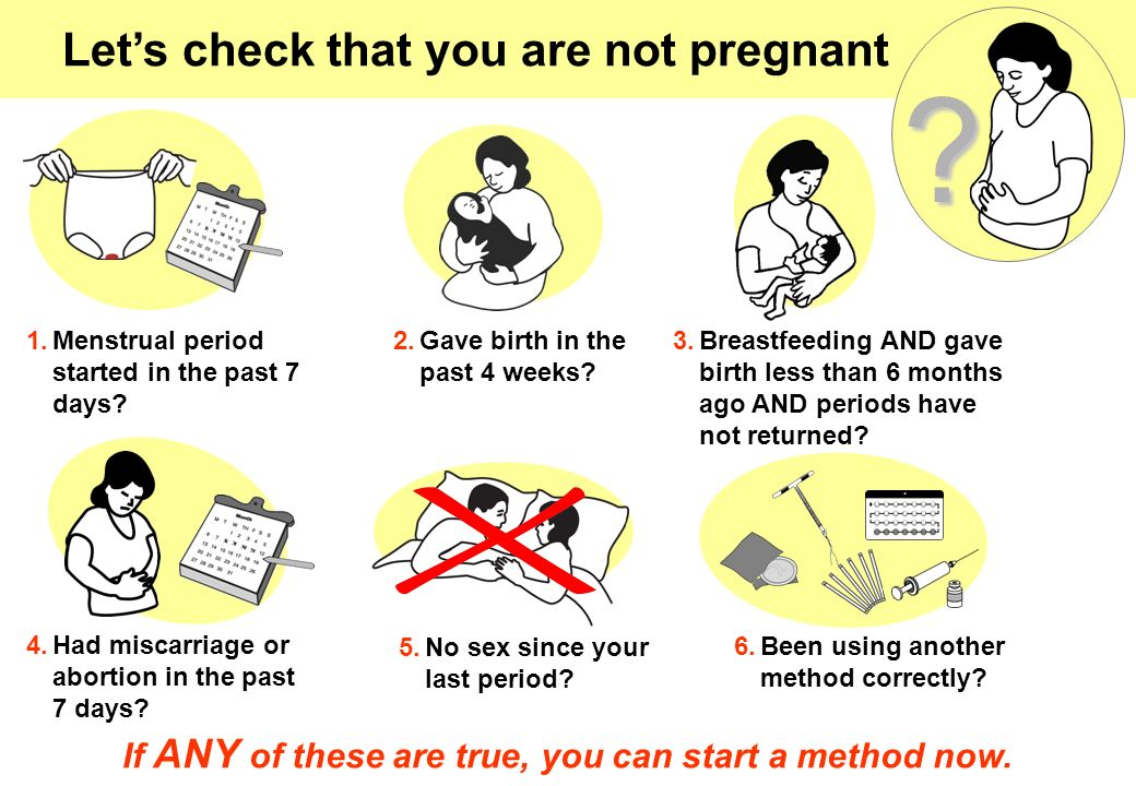 Let's check that you are not pregnant