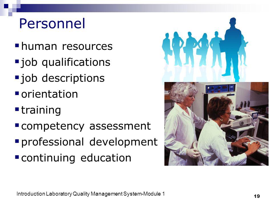 Personnel human resources job qualifications job descriptions