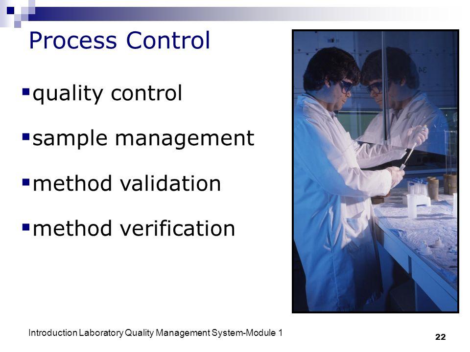 Process Control quality control sample management method validation