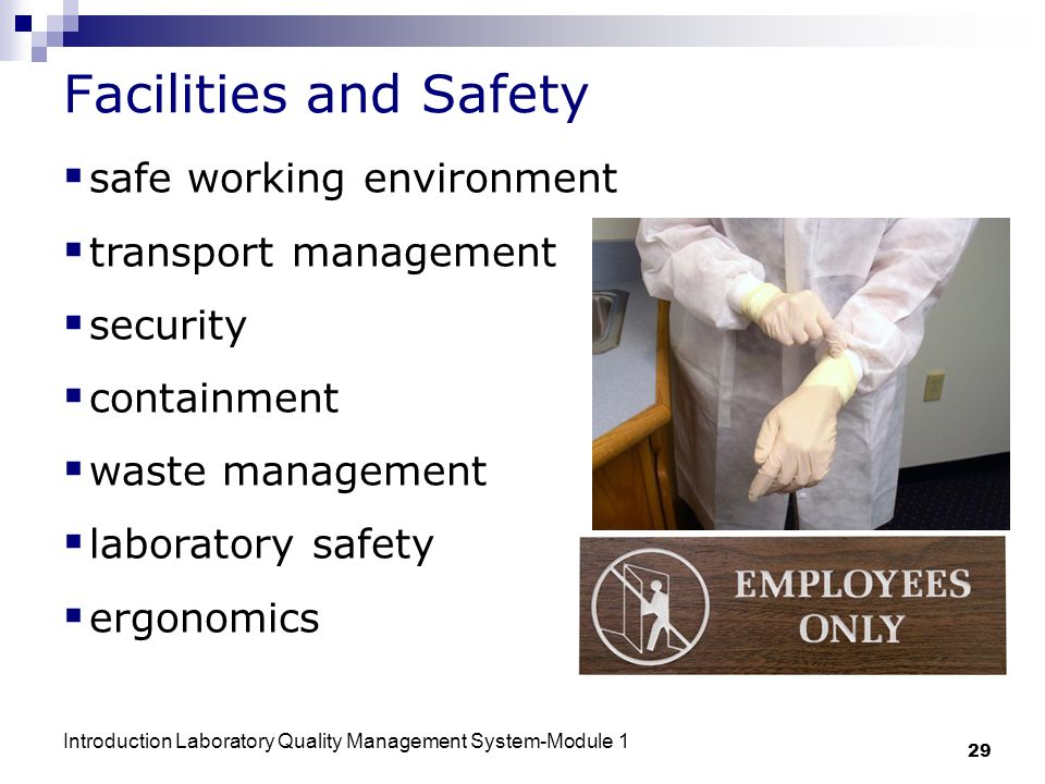 Facilities and Safety safe working environment transport management