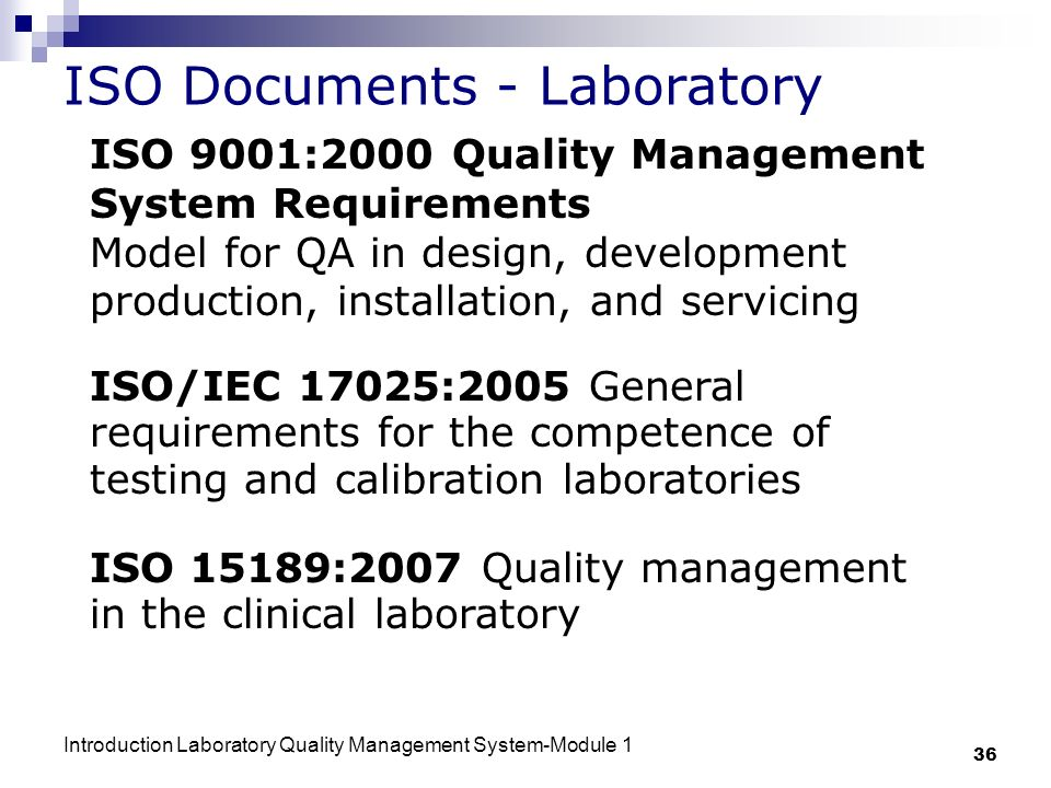 ISO Documents - Laboratory