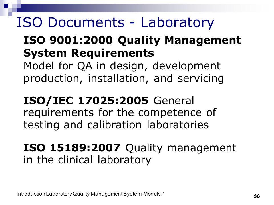 ISO Documents - Laboratory