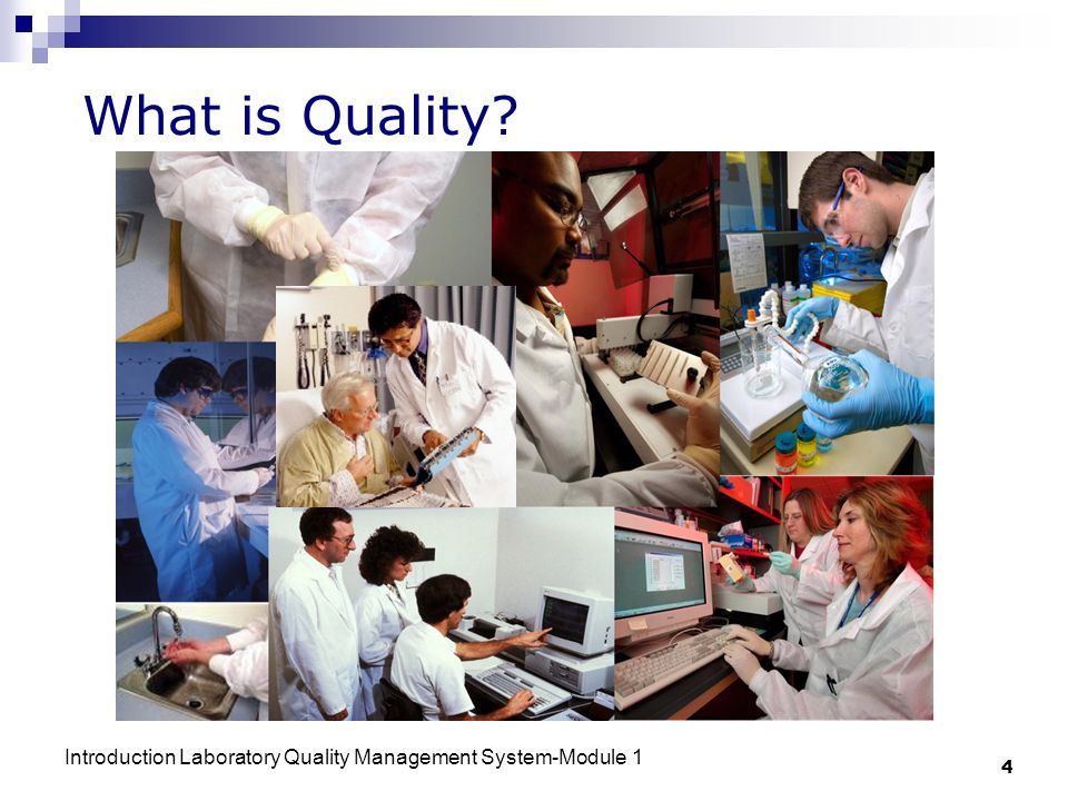What is Quality Introduction Laboratory Quality Management System-Module 1 4