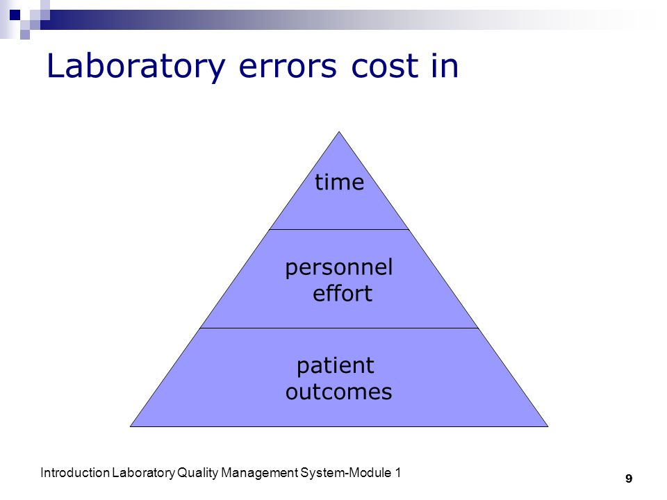 Laboratory errors cost in