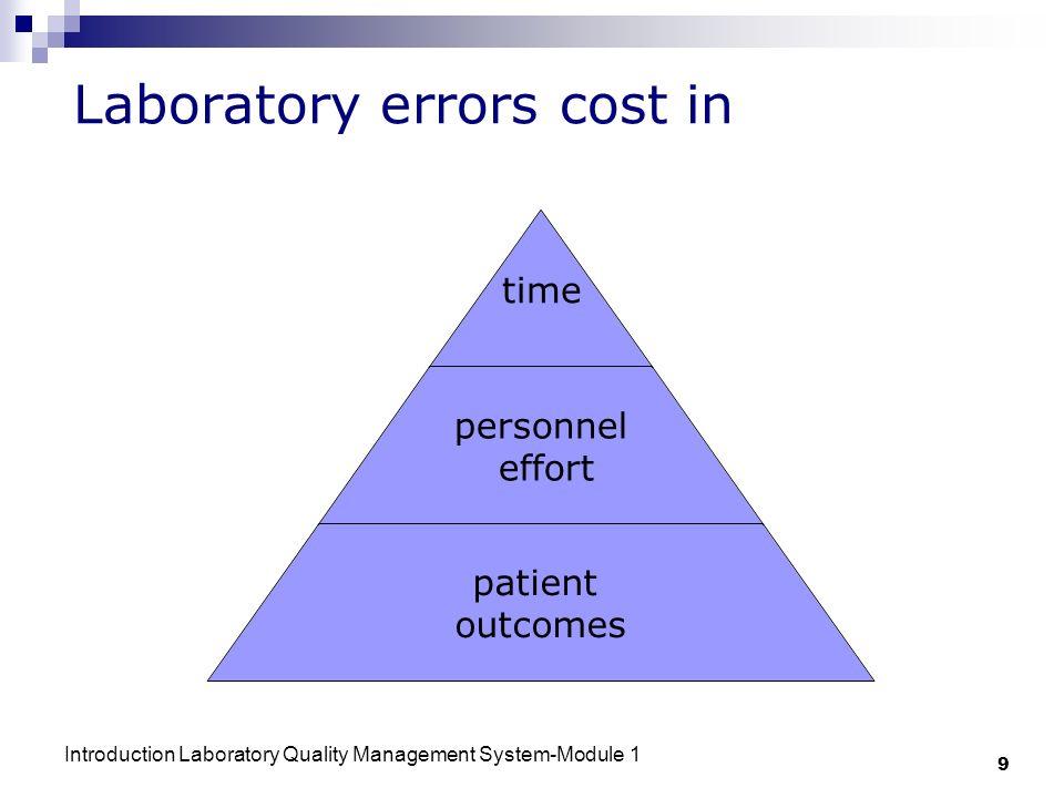 Laboratory errors cost in