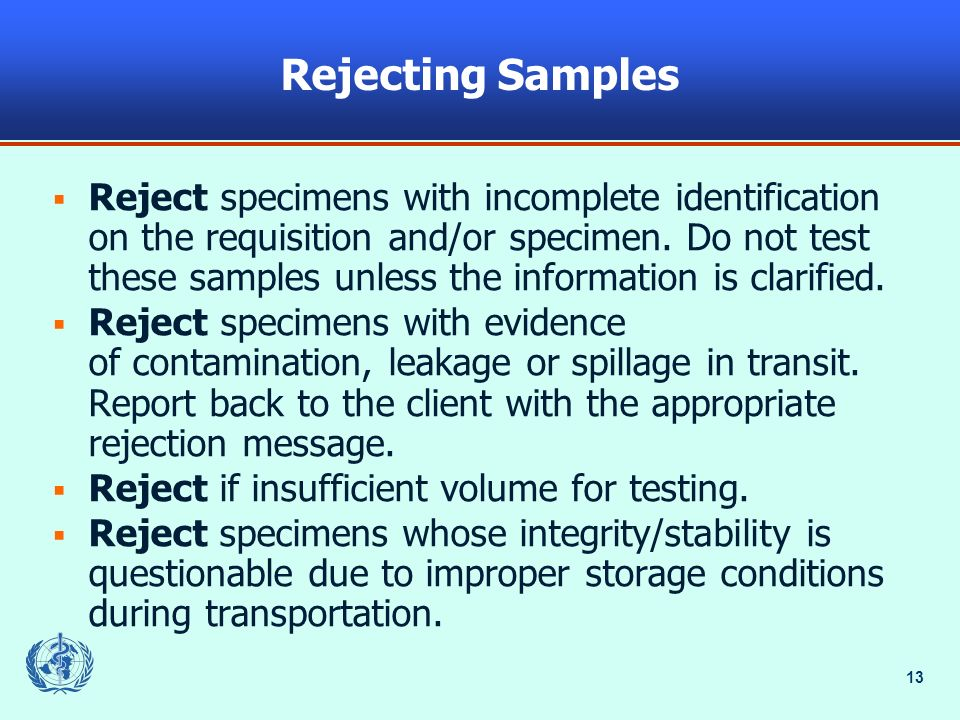 2005 Rejecting Samples.