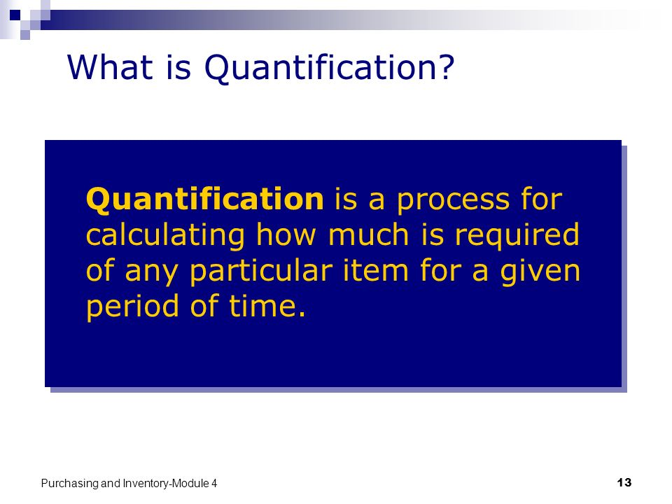 What is Quantification