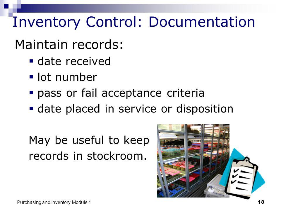 Inventory Control: Documentation
