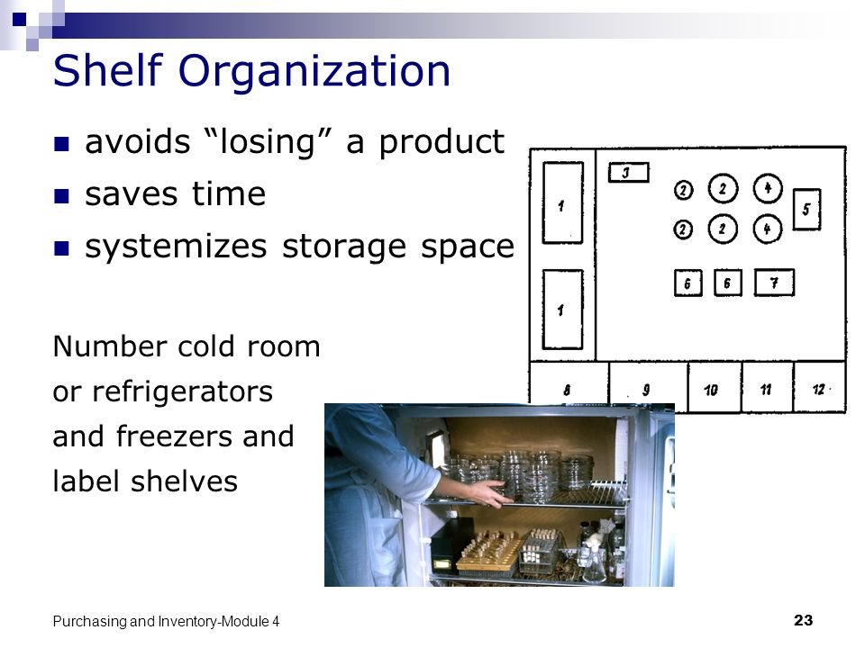 Shelf Organization avoids losing a product saves time