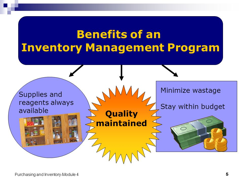Benefits of an Inventory Management Program
