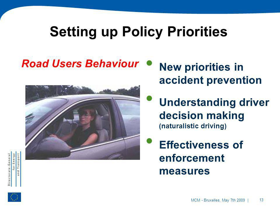 Setting up Policy Priorities