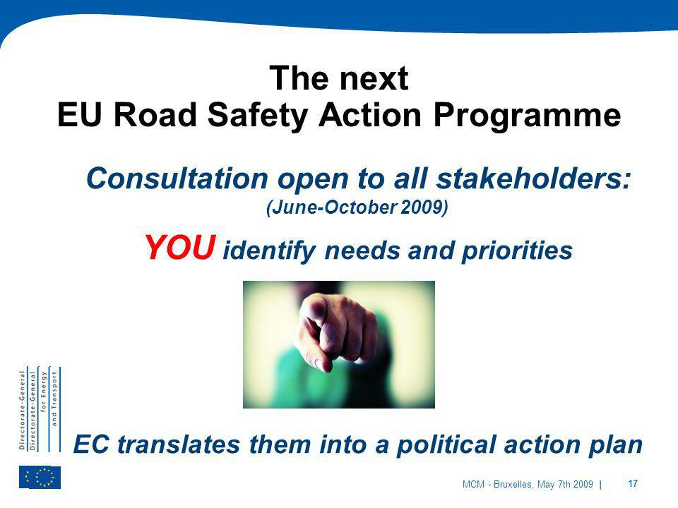 The next EU Road Safety Action Programme