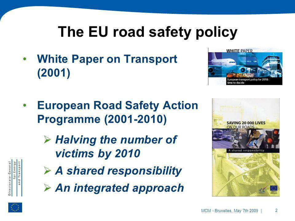 The EU road safety policy