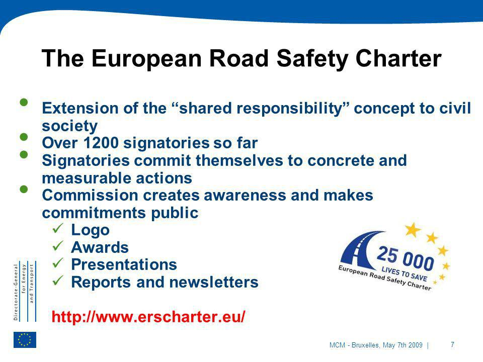 The European Road Safety Charter