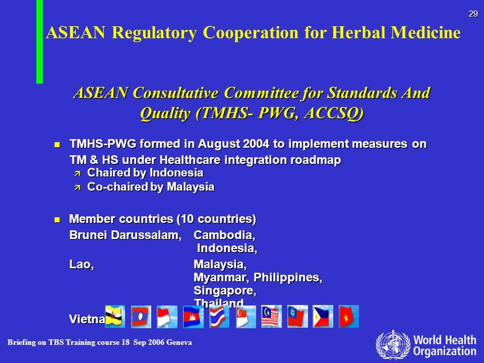 ASEAN Regulatory Cooperation for Herbal Medicine