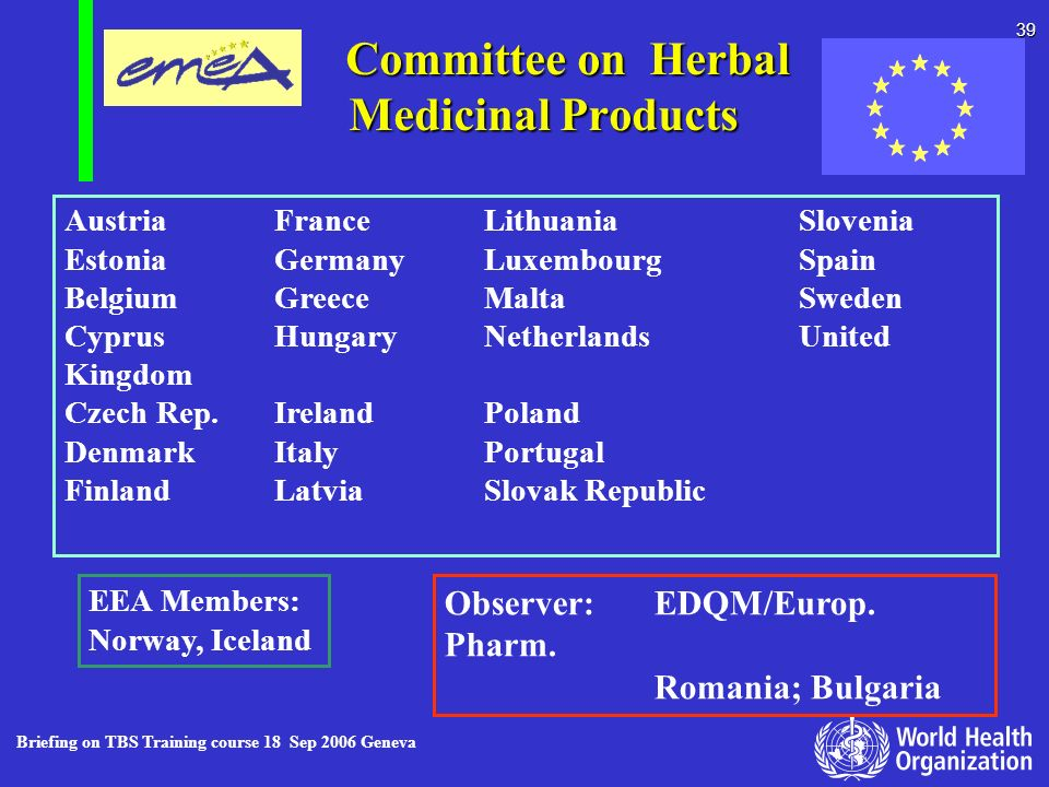 Committee on Herbal Medicinal Products