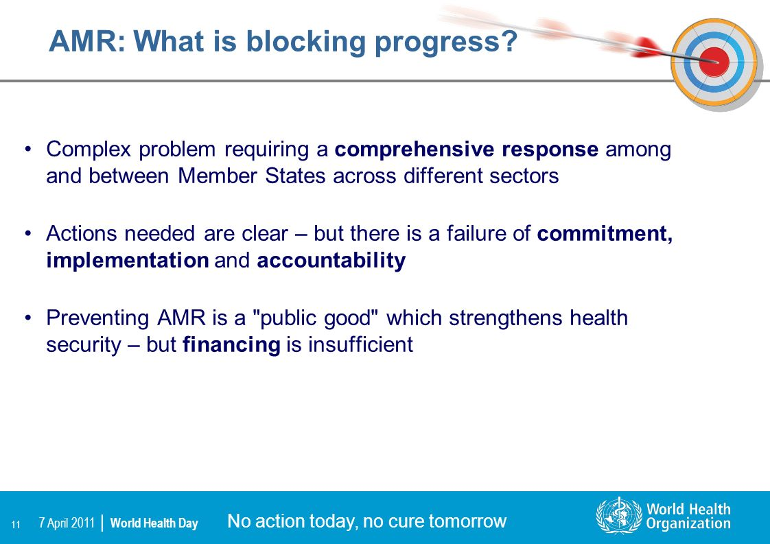 AMR: What is blocking progress