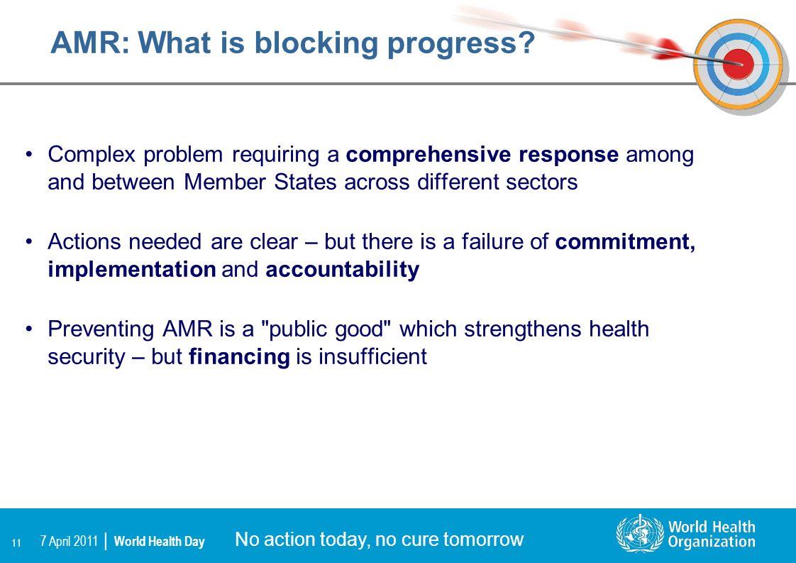 AMR: What is blocking progress