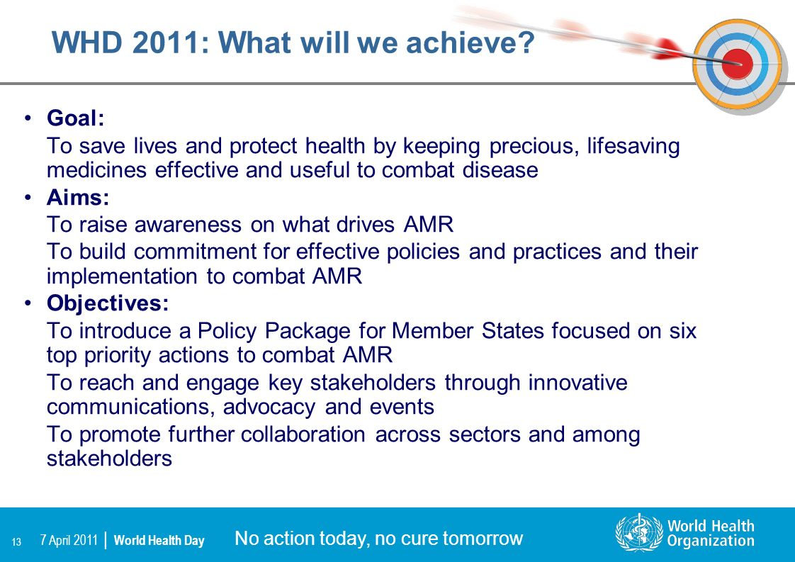 WHD 2011: What will we achieve