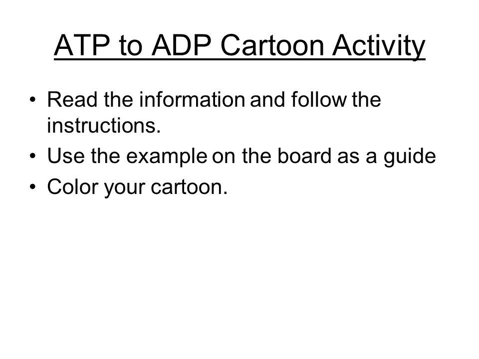 ATP to ADP Cartoon Activity