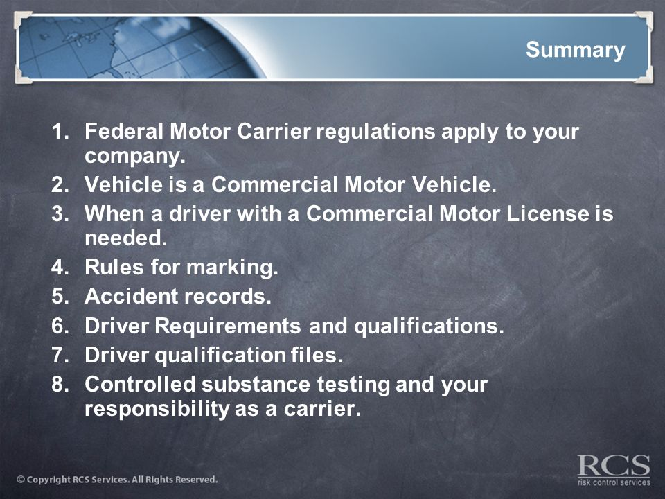Operating A Motor Vehicle Fleet Ppt Download
