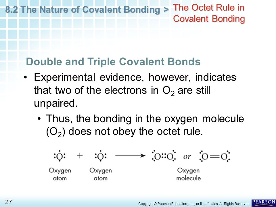 Chapter 8 Covalent Bonding 8.2 The Nature of Covalent ...