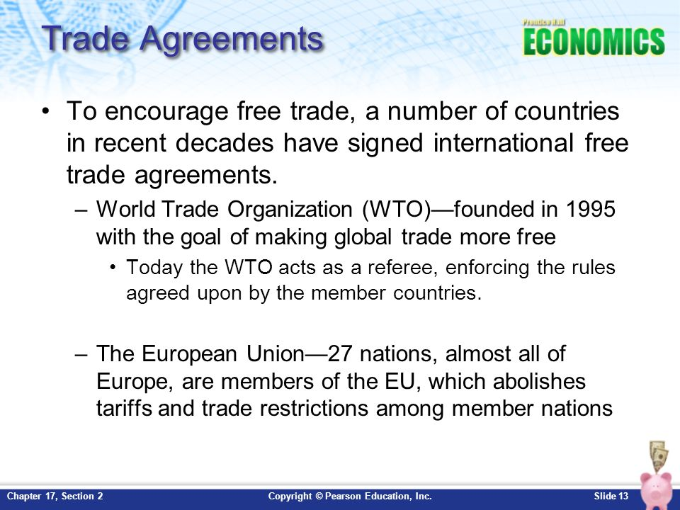 Chapter 17 international trade section 2 ppt download 13 trade agreements platinumwayz
