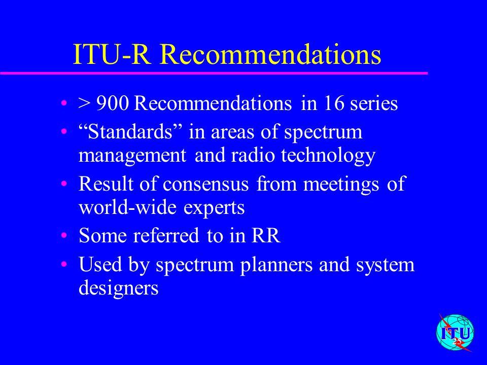 ITU-R Recommendations