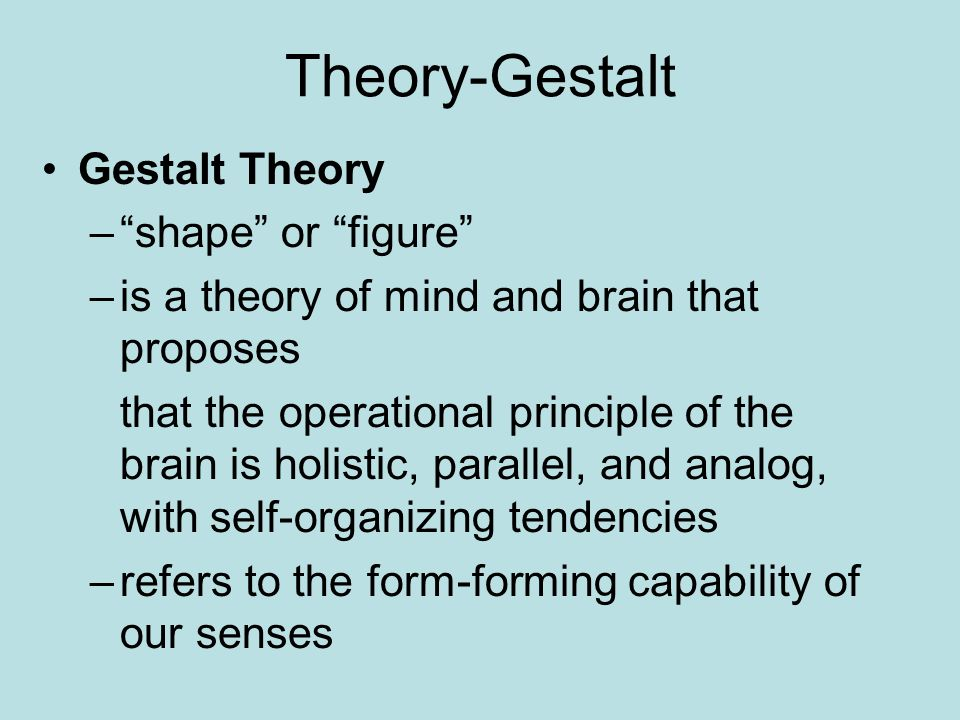 Gestalt Theory: What is it, characteristics, its laws and main applications
