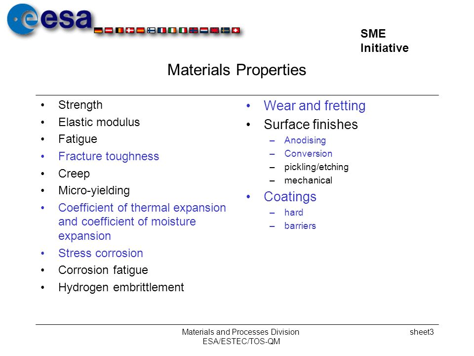 Materials and Processes Division