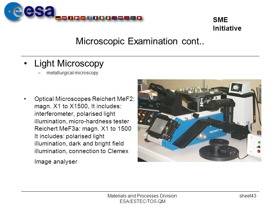 Microscopic Examination cont..