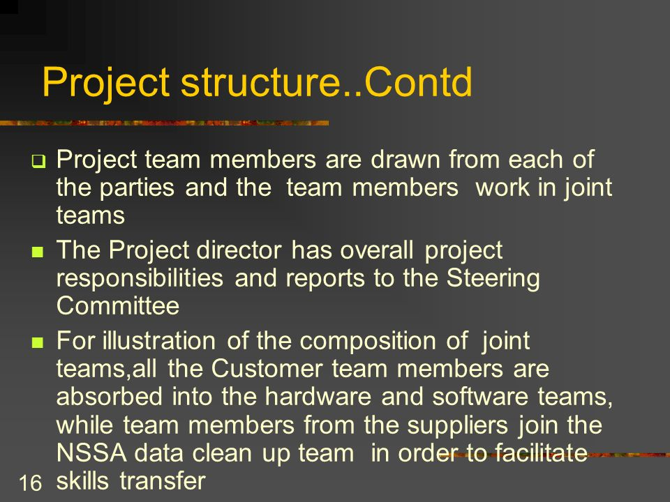 Project structure..Contd