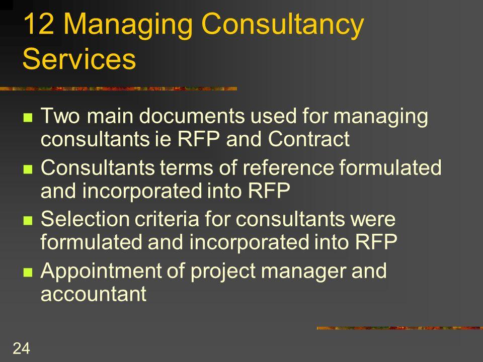 12 Managing Consultancy Services