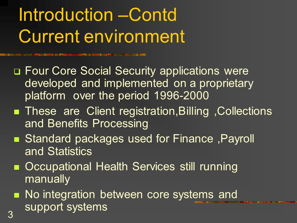 Introduction –Contd Current environment