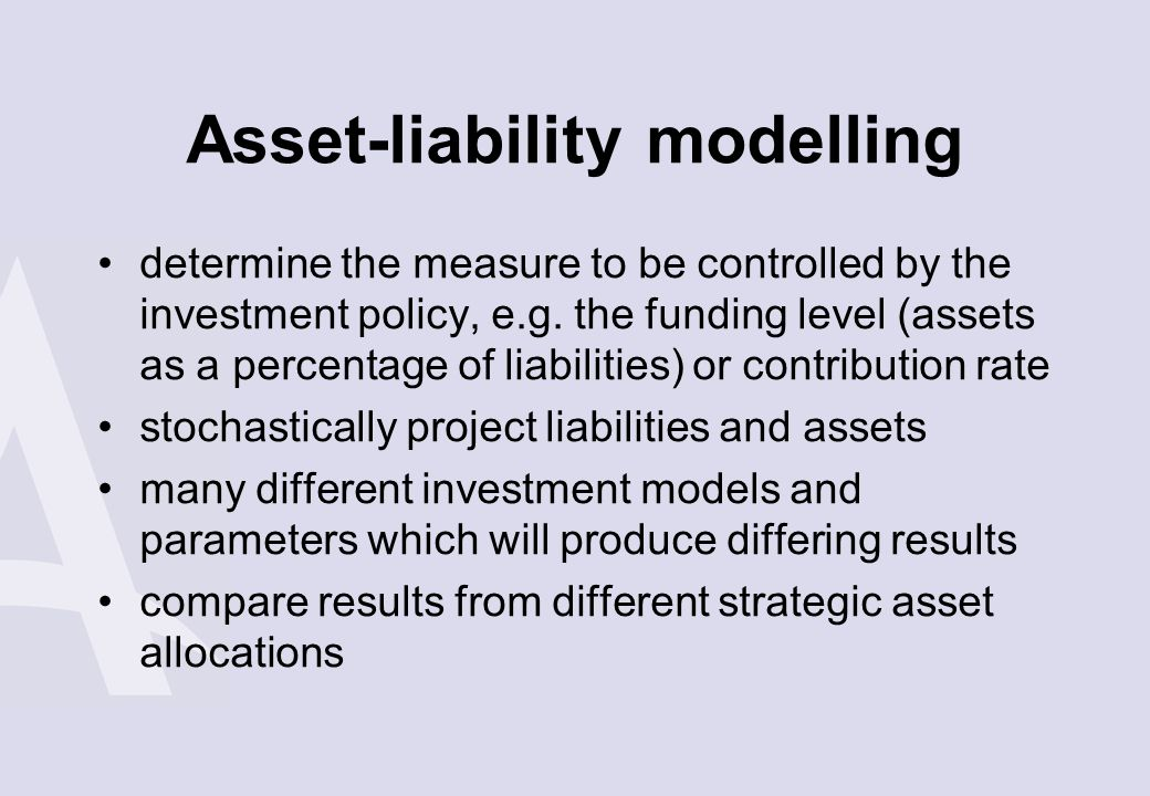 Asset-liability modelling