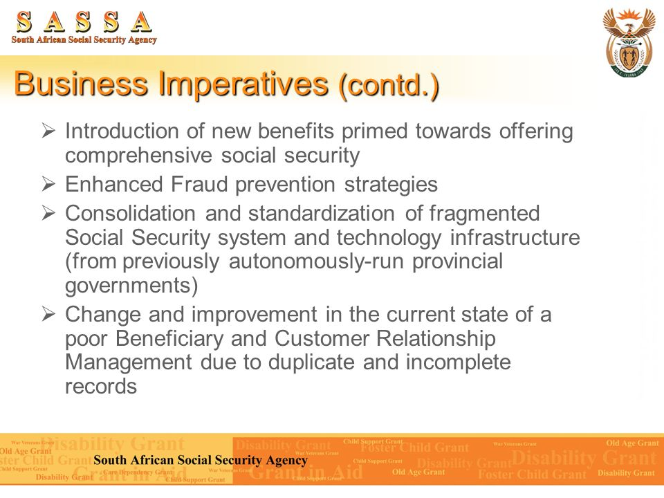 Business Imperatives (contd.)