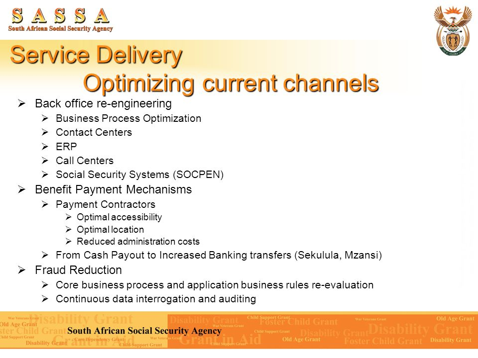 Service Delivery Optimizing current channels