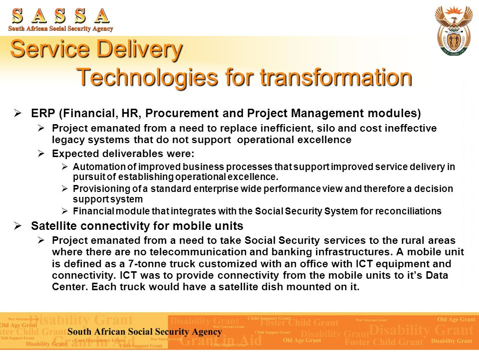 Service Delivery Technologies for transformation