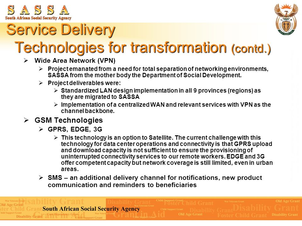 Service Delivery Technologies for transformation (contd.)