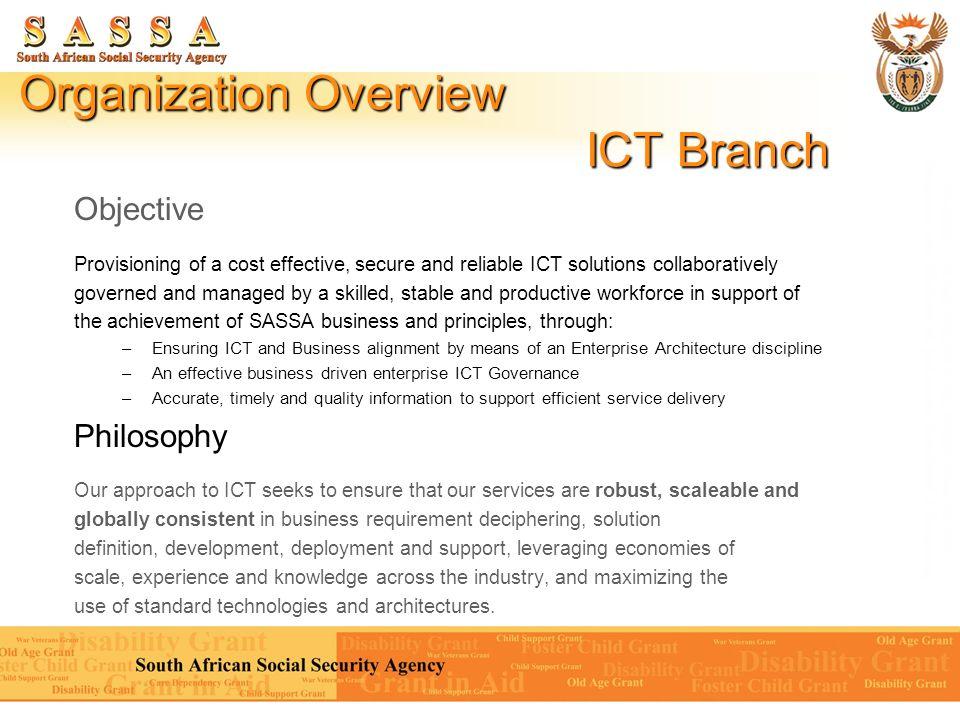 Organization Overview ICT Branch