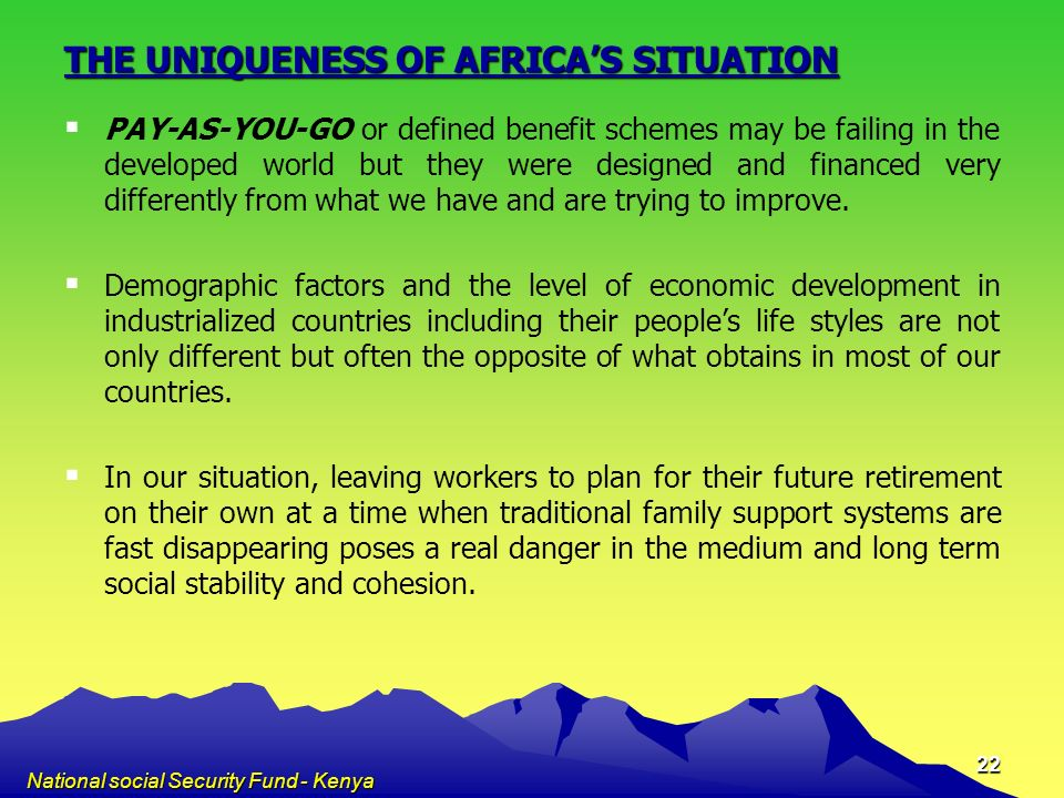 THE UNIQUENESS OF AFRICA'S SITUATION