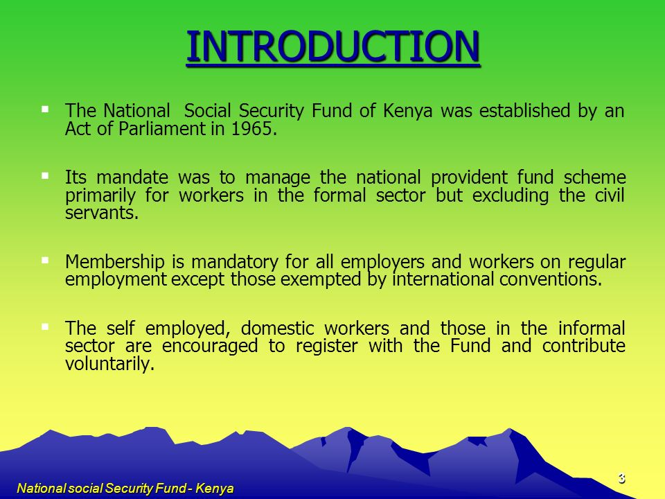 National social Security Fund - Kenya