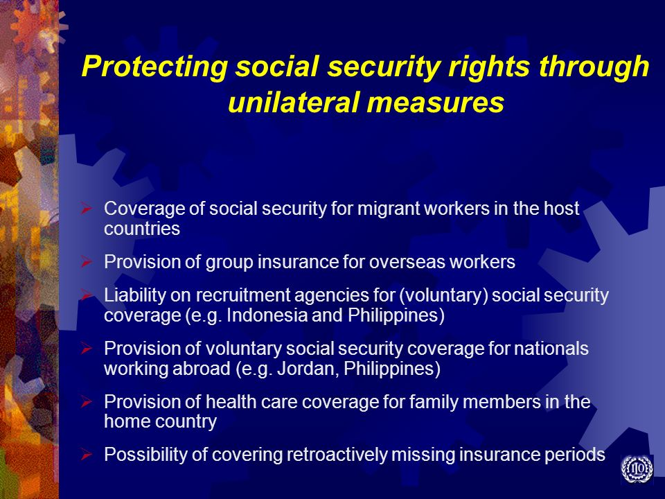 Protecting social security rights through unilateral measures