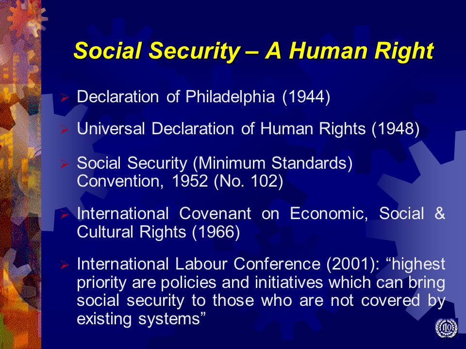 Social Security – A Human Right