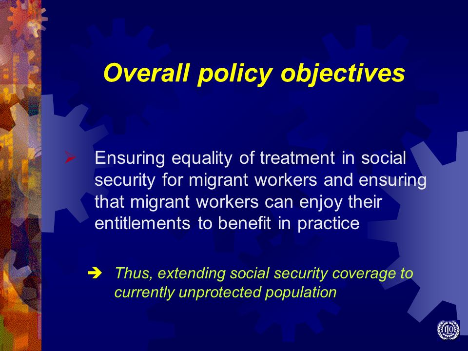 Overall policy objectives