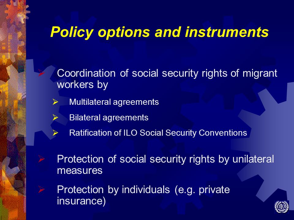 Policy options and instruments
