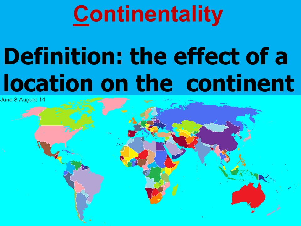 continentality
