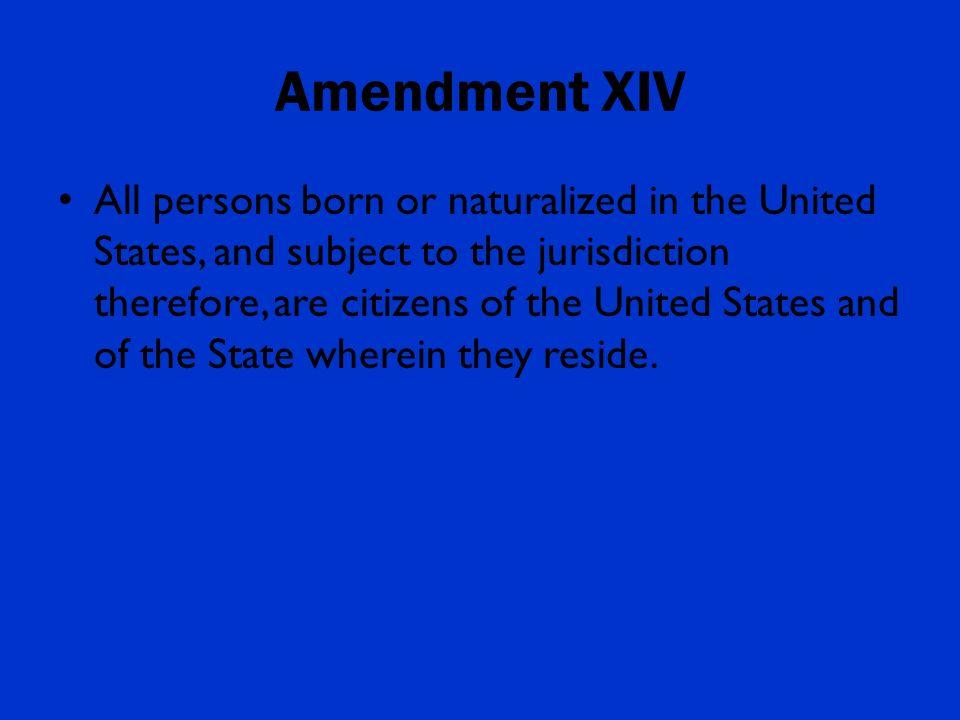 Fourteenth amendment