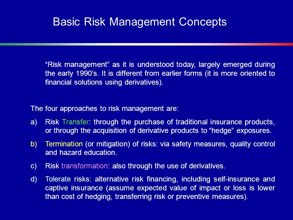 Basic Risk Management Concepts